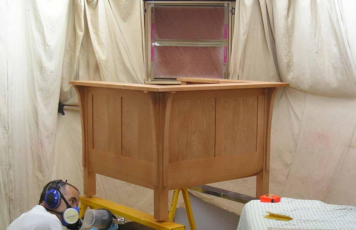 Prairie chair finishing